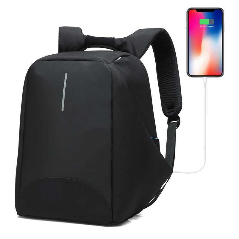 3cc80ffad058 SAMI STUDIO Multifunction USB Charging Men 15 Inch Laptop Backpacks ...