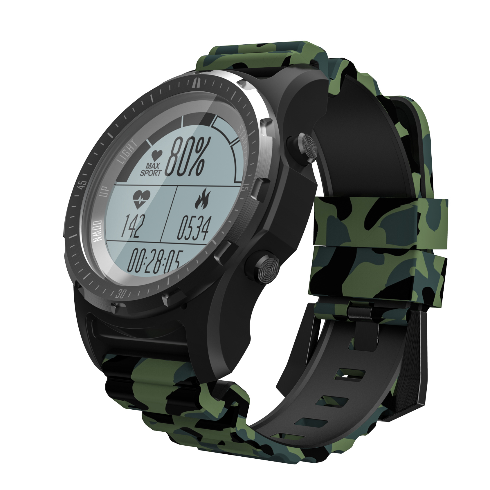 RUIJIE S966 GPS Smart Watch Waterproof Heart Rate Altitude Meter Temperature Multi-sport Men Cycling Running Sport Smartwatch