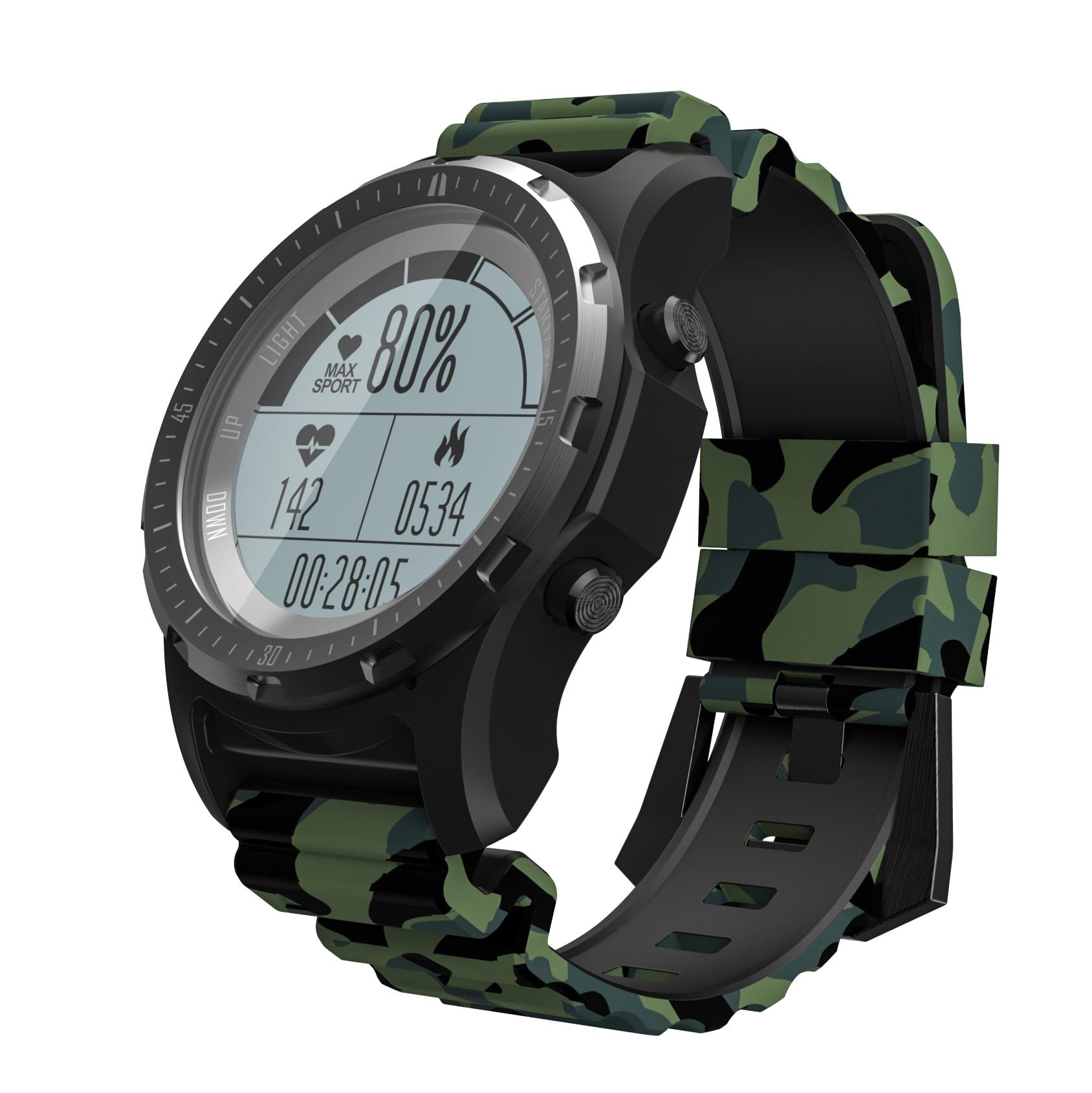 RUIJIE S966 GPS montre intelligente étanche fréquence cardiaque compteur d'altitude température multi-sport hommes cyclisme course sport Smartwatch