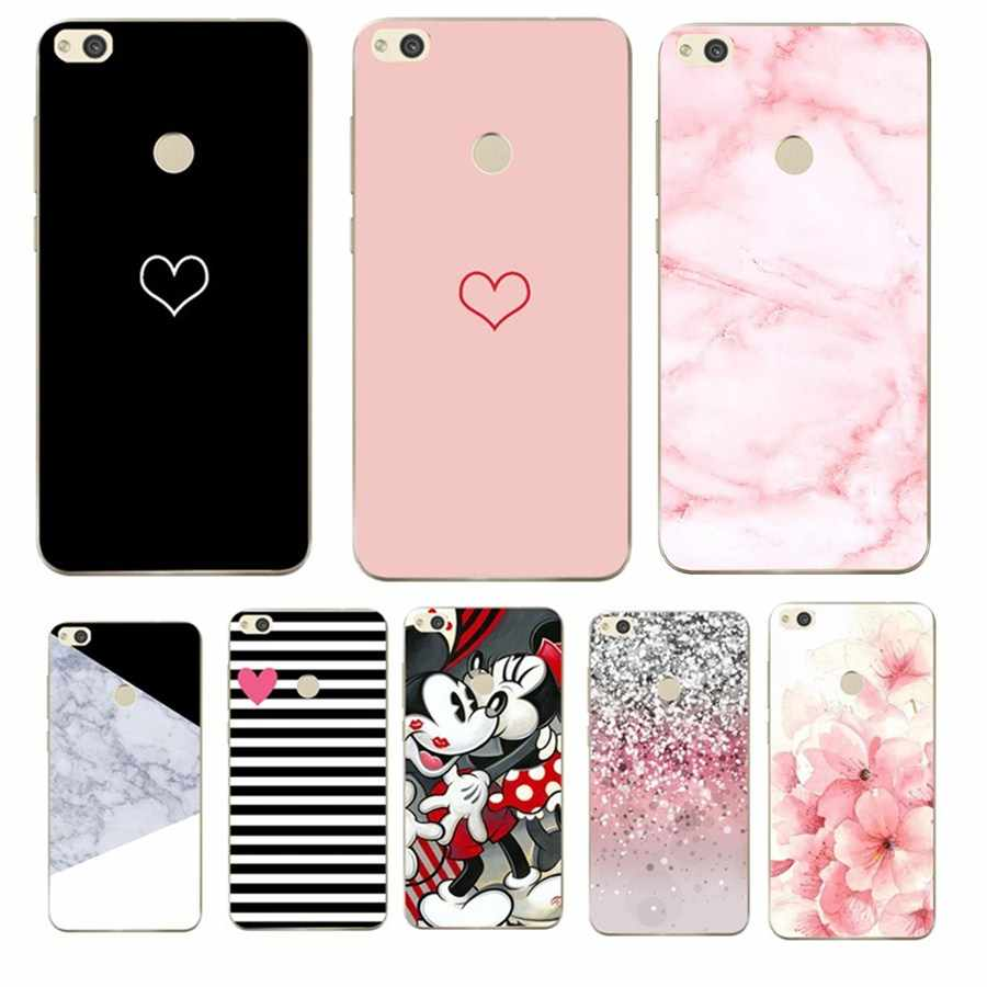 For Huawei P Smart Case Enjoy 7S Silicone Soft Phone Cases For Huawei P Smart 2018 P20 P9 Lite Mini Mate 10 P8 P9 Lite 2017 Case