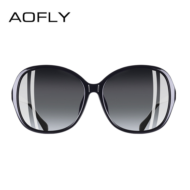 AOFLY BRAND DESIGN Classic Polarized Sunglasses Women Oversized Frame Gradient Lens Rhinestone Sunglasses A102 2