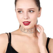 DIY punk exaggerated super flash nightclub jewelry necklace was thin letters
