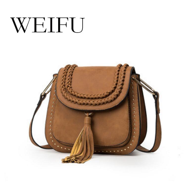 ФОТО Tassel saddle bag Circle the single shoulder bag women bag fashion women's messenger bag