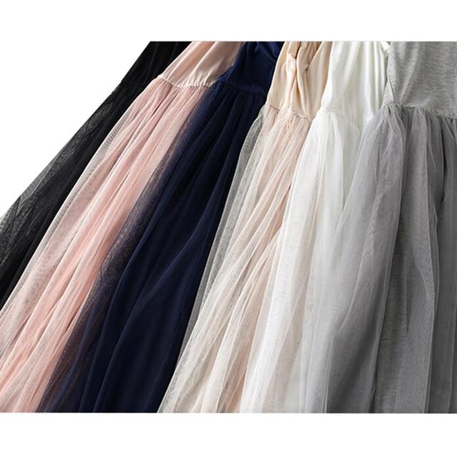 2017 Nouveau Sexy De Courroie De Gaine Patchwork Mesh Robe Printemps Été Femmes Gaze Dentelle Réservoir Robe De Base Robe D'été Partie Robes SF116