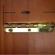 30 шт. 65*15 мм маленький металлический ящик шарнир имитация золотых петель палитра петель Встроенная полоса петля