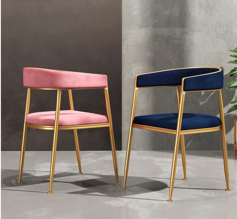 Lumière luxe web célébrité à manger chaise moderne et simple ménage retour chaise mode personnalité chambre créative bureau chaise