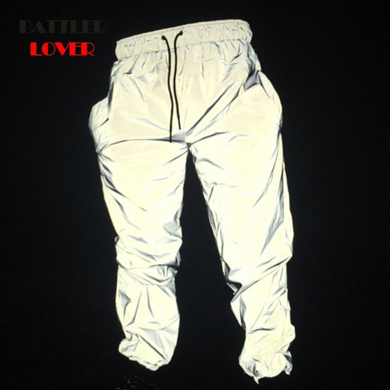Dropship Reflective Hip Hop Pants Men Joggers Sweatpants Men