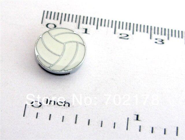 ¡Nuevas ventas! 8mm forma de voleibol slide charms 50 piezas fit pulsera petcollar llavero