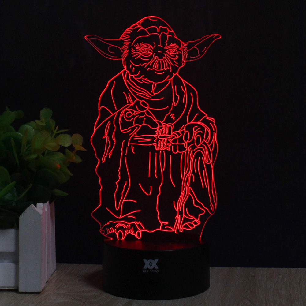 Master Yoda 3D Lamp Remote Control Night Light LED Decorative Table - Night Lights - Photo 2