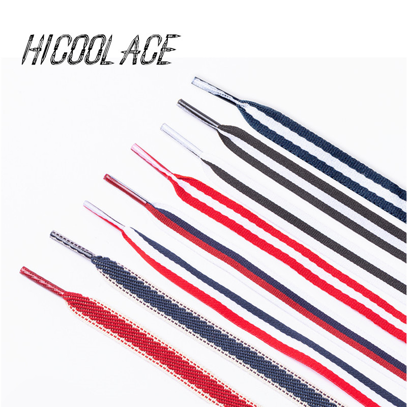2019 New 1CM Wide Polyester  Shoe Laces Red White Blue Mixed Color Shoelaces Women Colorful Sports Casual Shoes Laces 12 Colors