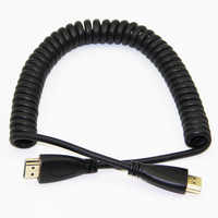 Elastic Coiled Spring HDMI Cable Male to Male V1.4 1080P 3D Pure Copper