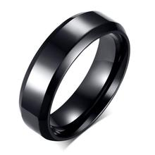 Free Custom Engraving 6mm Simple Plain Promise Rings in Stainless Steel