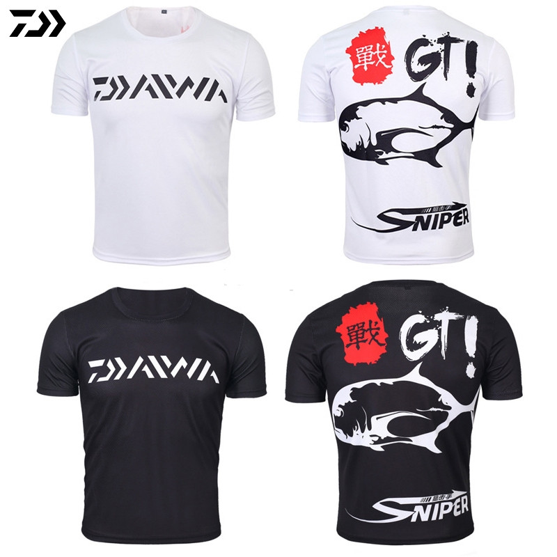 DAIWA DAWA 2018 Fishing Clothing Summer Short Sleeve Deep Sea Sunscreen Breathable Clothes Anti-UV Ultrathin Fishing Shirt