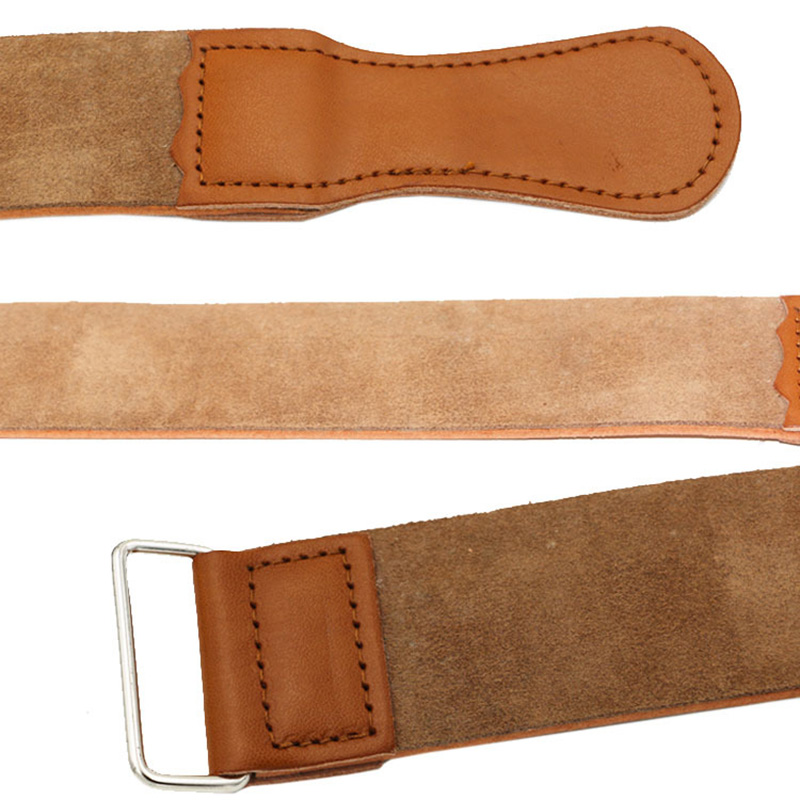 Durable Genuine Leather Strap For Barber Straight Razor Sharpening Strop Belt Barber Shaving Strap MH88