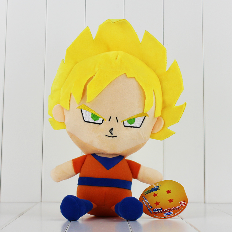 цена 20cm Dragon Ball Plush Toys Super Saiya Son Goku Cute Vegeta Son Gohan Soft Stuffed Dolls For Kids онлайн в 2017 году