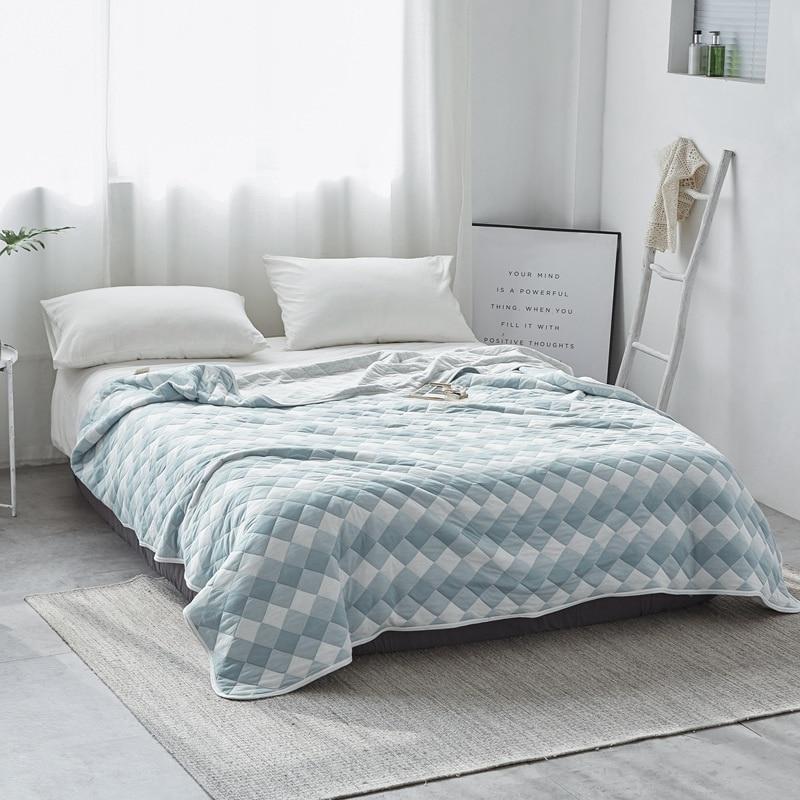100% Katoen Airconditioning Zomer Deken Quilt Bed Spread Bed Cover Matras Topper Zacht Laken Couvre Lit Colcha De Cama