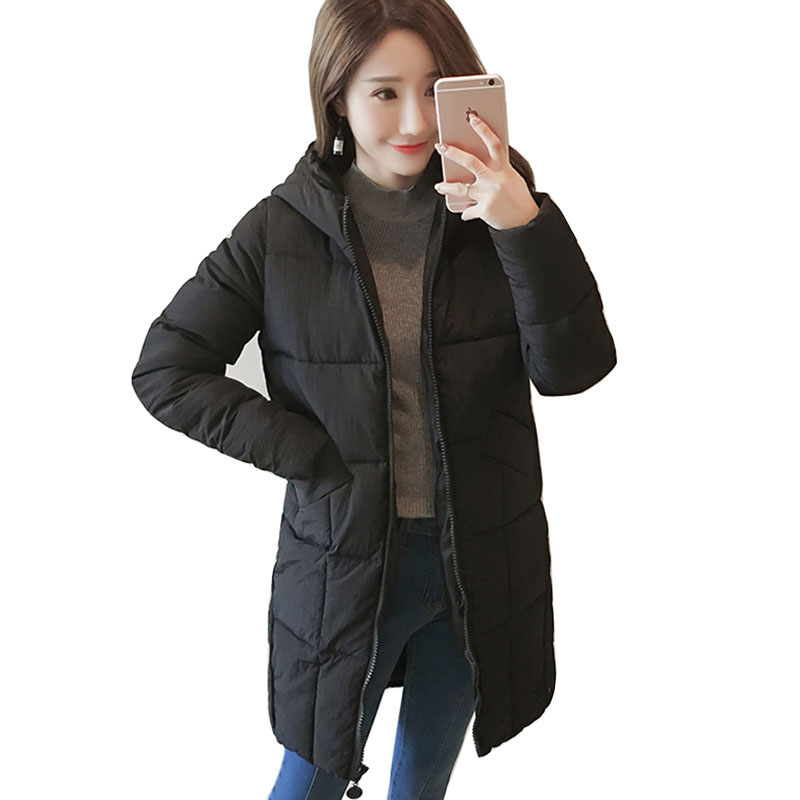 2017 winter jacket Parkas Women New Cotton Padded Parkas Coat Warm Thicken Long Hooded Girls Casual Jacket M-3XL RE0046 qazxsw 2017 new winter cotton coat women casual padded jacket hooded long parkas for girls winter coat jaqueta feminina hb283