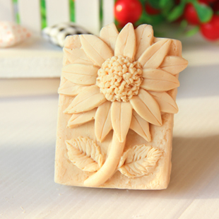 Silicone mold sunflower DIY handmade soap mould font b food b font grade silicon molds