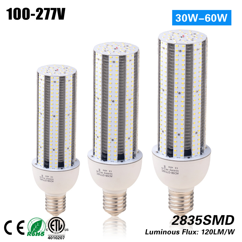 Free shipping 100-277VAC 60W Corn Bulb Light CE ROHS ETL replacement 200w HPS street light free shipping 5pcs 120w ufo highbay light 130lm w 100 277 vac to replace 400w hps