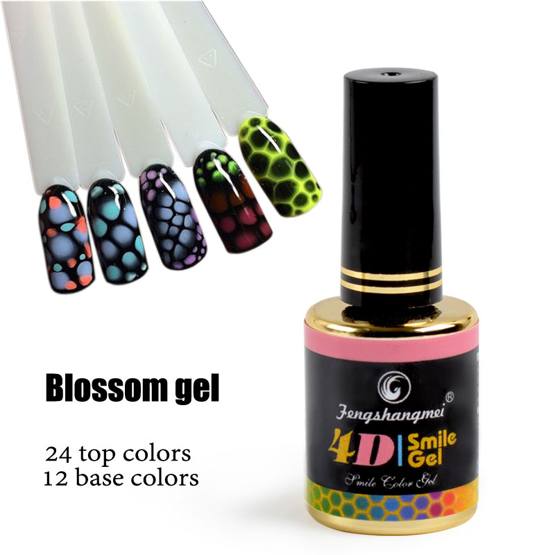 fengshangmei 12ml Blossom Gel Nail Art Rose Design Booster Gel Varnish Booming Gel Untuk Kuku