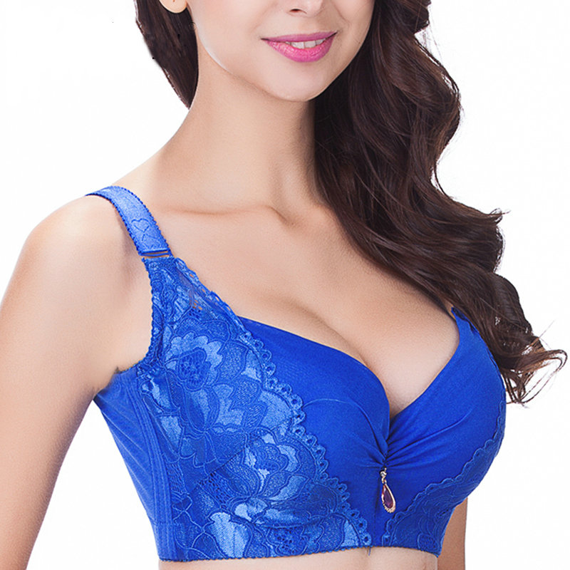 d29859ff2ee5b Plus size wireless lace bra thin underwear small adjustable lace Women s  bra breast cover B C D E cup