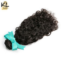 KL Hair Brazilian Virgin Hair Natural Wave 100 Human Hair Weaving Bundles Natural Color 8 28