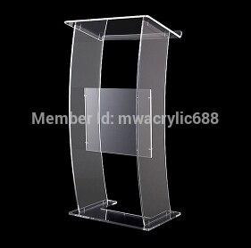 Pulpit Furniture Modern Design Cheap Transparent Clear Acrylic Lectern Acrylic Pulpit Plexiglass