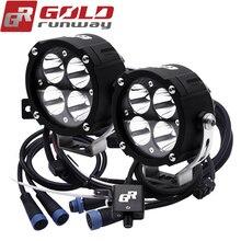 GOLDRUNWAY Motorcycle LED Work Light U3 42W 5000 Lumen Universal Spot moto light Car Driving Fog Auxiliary Lamp