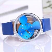 6pcs Lots Retro Casual Quartz Watch Female PU Leather Stainless Steel Women Watches Wholesale Relojes Hombre