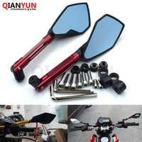 Universal CNC motorrad spiegel motorrad seite spiegel 8mm 10mm Für BMW K1600 K1300 K1200R K1200S R1200RT R1200ST R1200GS HP2