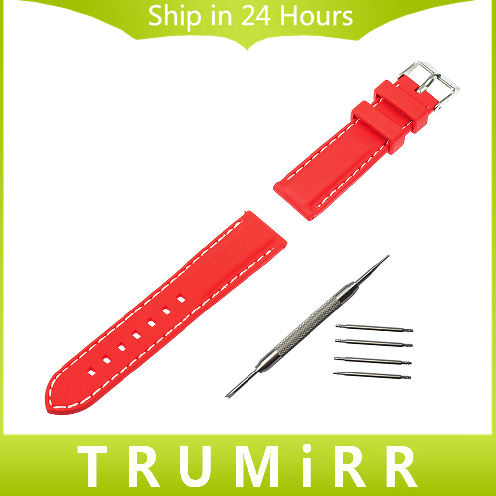 22mm Silicone Rubber Watch Band Bracelet Strap for Moto 360 2 46mm Gear 2 R380 R381 R382 LG G Watch W100 W110 W150 Pebble Time