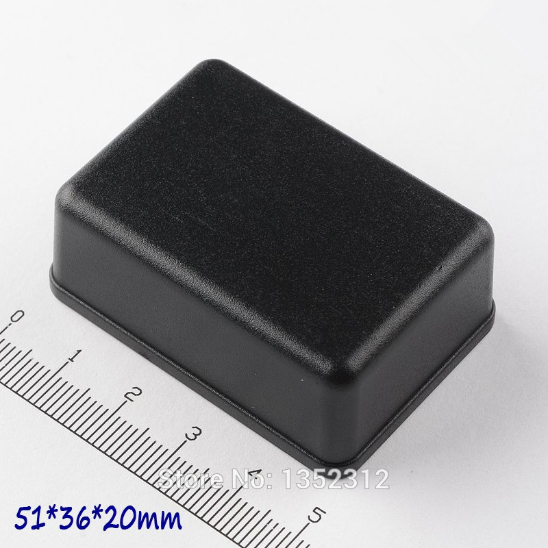 50 pcs/lot 51*36*20mm plastic abs junction box electronic instrument enclosure small project box waterproof switch box