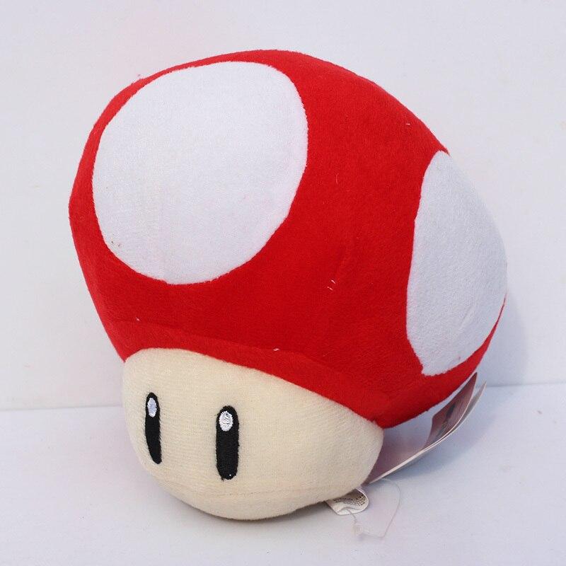 20 см Жаба гриб мягкие куклы плюшевые игрушки дюймов супер грибы Марио куклы для девочек Подарки - Цвет: 20CM Red