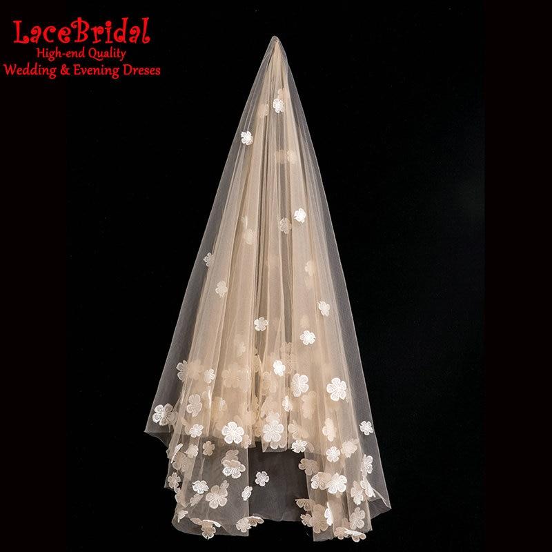 Popular champagne wedding veil buy cheap champagne wedding for Veil for champagne wedding dress