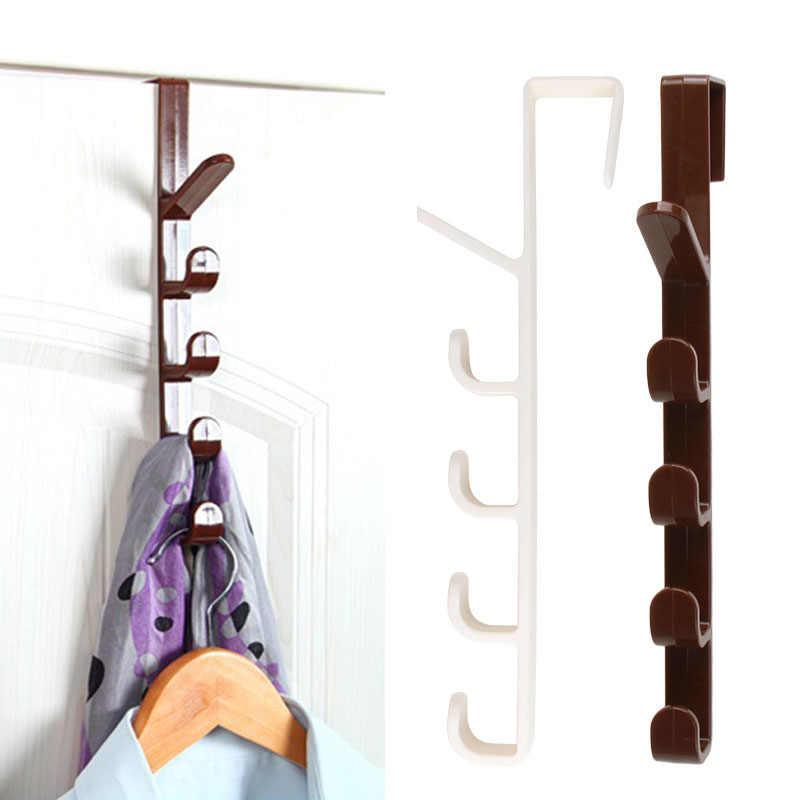 4 Hook Over the Door Hanger Clothes Coat Hat Scarf Bag Hanging Rack Organizer