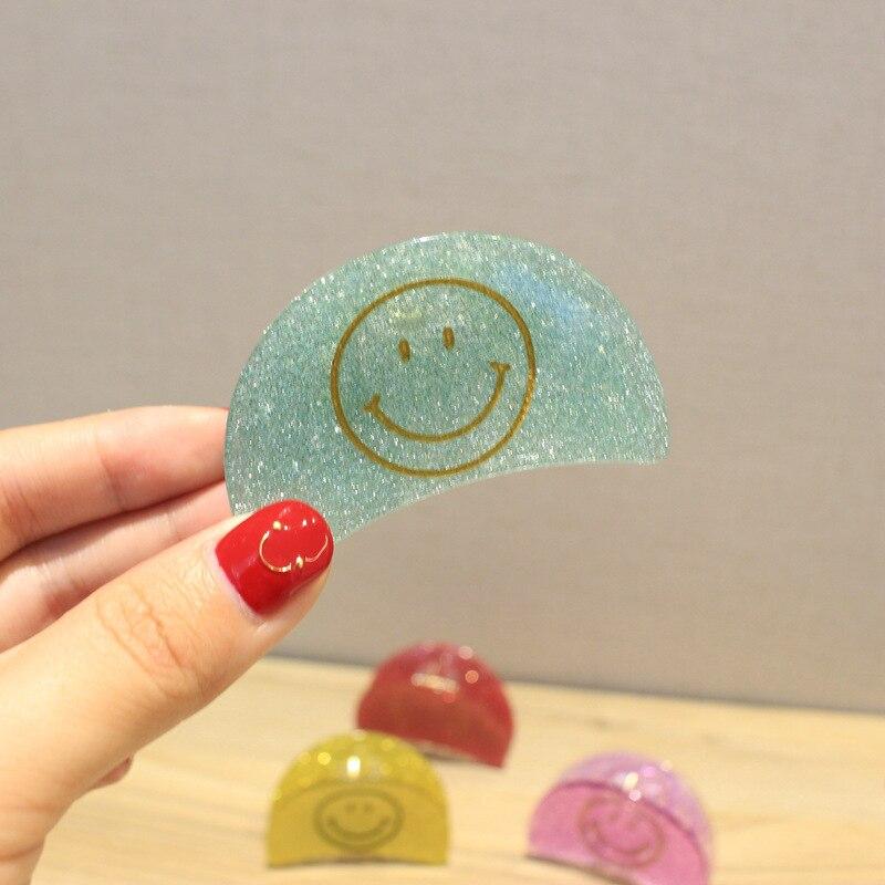 Koreansk stil Kvinnor Flickor Söt Emoji Leende Ansikte Candy Färger - Kläder tillbehör - Foto 3