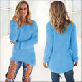 2016 Women Autumn Winter Warm Mohair O-Neck Women Pullover Long Sleeve Casual Sweater Tops 10 Colours  Plus Size 3XL M10-1
