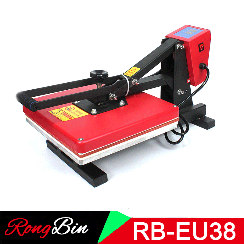 38x38 CM RB-EU38 haute pression presse à chaud Machine T-shirt Machine d'impression Sublimation tissu coque de téléphone Puzzle tapis de souris verre