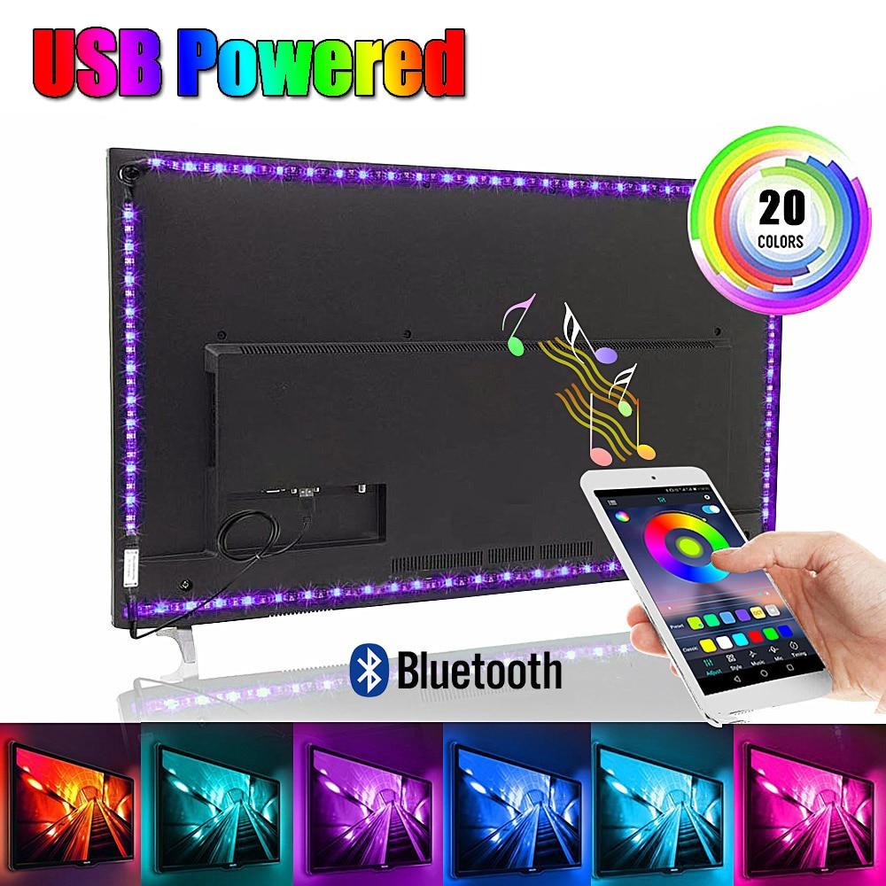 USB светодиодная подсветка под шкаф Bluetooth контроллер RGB световая полоса 5050 DC 5V лампа освещение для шкафа дома спальни кухни украшения|Подшкафные лампы|   | АлиЭкспресс