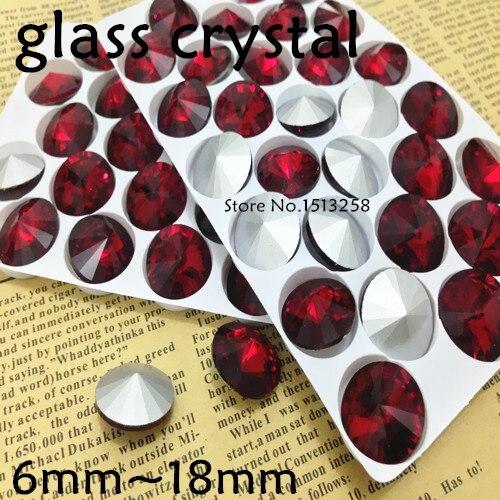 50 PCS 14mm Coppered Swirl Coating Faceted Glass Rivoli Jewels