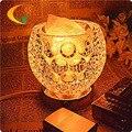Ajustável botão de sal candeeiro de mesa de cristal quarto lâmpada lâmpada de cabeceira luz da noite da lâmpada E17 Luzes Livro