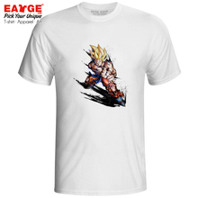 Super Saiyan Goku KAMEHAMEHA T Shirt Dragon Ball Z Cool Novelty Anime Ink Design T-shirt Hip Hop Active Rock Men Women Tee цена