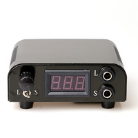 Permanent Makeup Pro 1Pcs Black Aluminum Alloy Dual LCD Digital Display Tattoo Power Supply For Tattoo