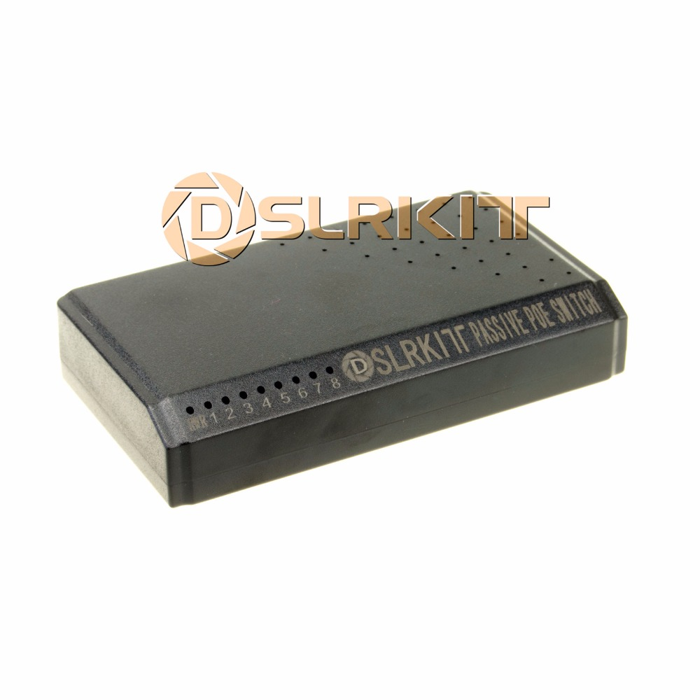 DSLRKIT 8 Ports 6 PoE Switch Injector Power Over Ethernet Without Power Adapter