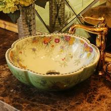 Lavabo de cerámica de estilo antiguo de Europa