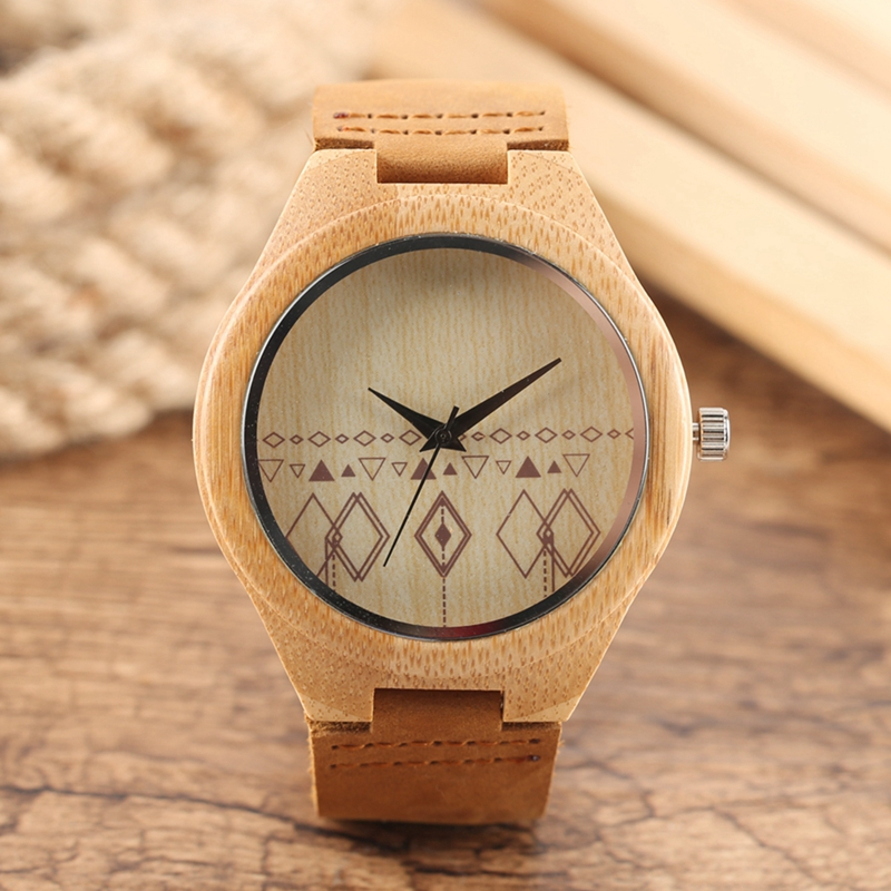 Wooden Watches Male Bamboo Wood Watch For Men Women Engrave Scale Quartz Genuine Leather Clock Male Luxury Man Wood Wristwatch 019z luxury clock gift full wooden watches man creative sport bracelet analog nature bamboo quartz wristwatch male wood watch
