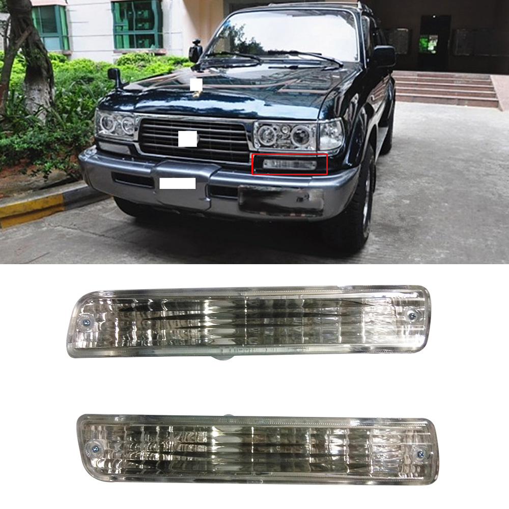CAPQX For LAND CRUISER LC80 FZJ80 4500 1991-1997 Car Front DRL Driving Daytime Running Light Indicator Lamp Signal Light