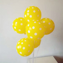 Yellow wave point ballon 30pcs/lot12 inch latex balloons birthday party decorations kids baloons wedding anniversary supplies