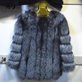 Winter Warm Real Silver Fox Fur Coat Fashion Luxury Womens Real Fur Genuine Fox Fur Coat Jacket Female Fur Coats Factory Direct