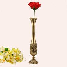 Vintage Home Decor Metal Vase Bronze Color Tabletop Art